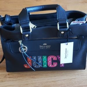 Black Rainbow Juicy Couture Tote Bag Shopper Purse